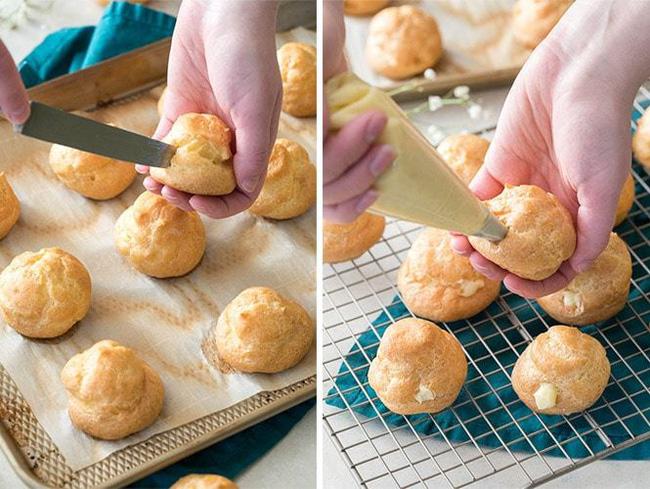 Không có lò nướng các chị em vẫn có thể làm bánh su kem nồi chiên không dầu một cách dễ dàng - Ảnh 7.