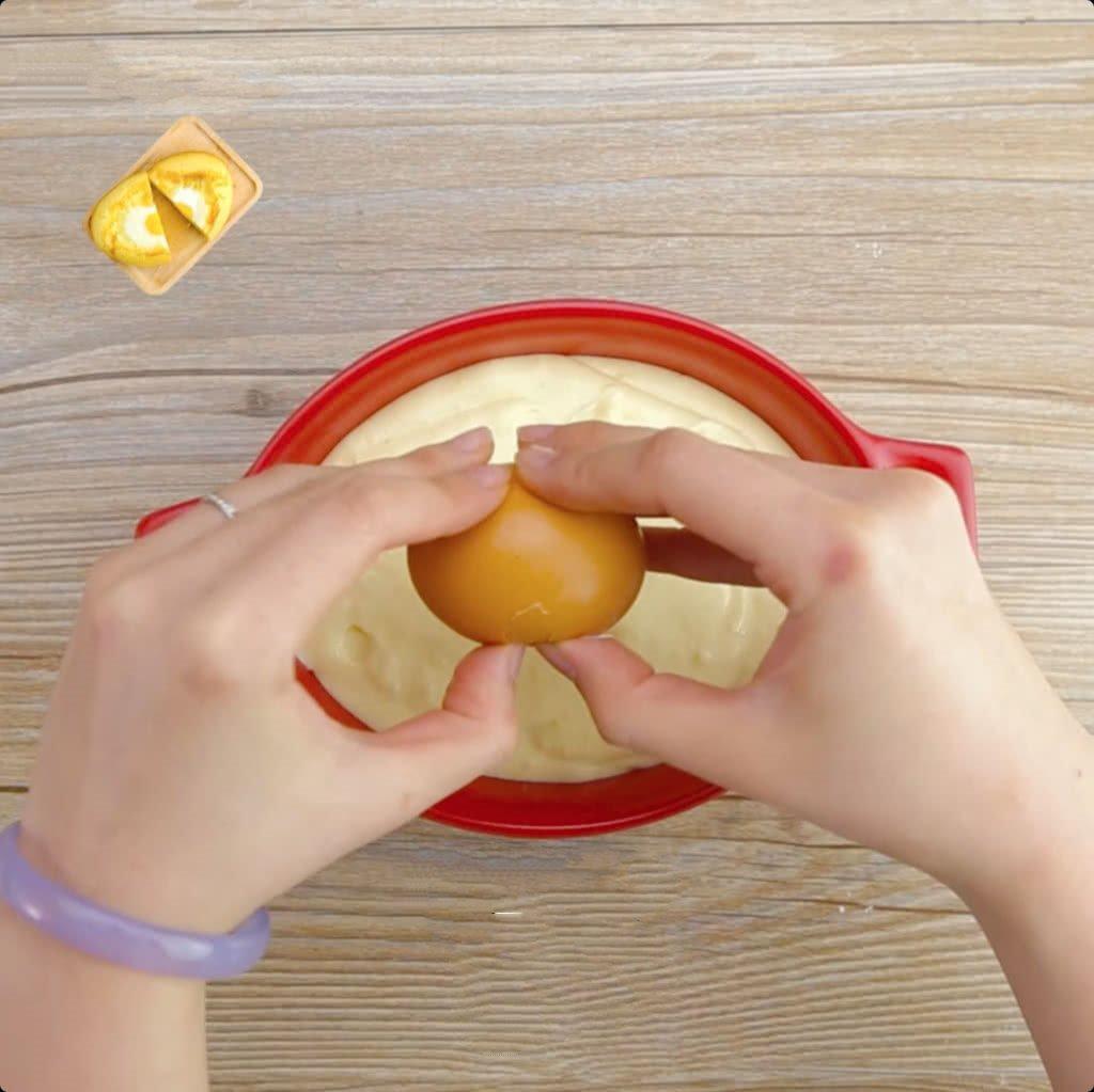làm bánh trứng xốp mềm đơn giản ăn sáng ngon lành 4