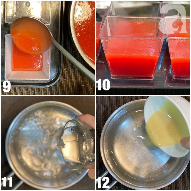 Thạch dưa hấu 2 lớp ngon đẹp bất ngờ cho mùa hè bớt nóng 5