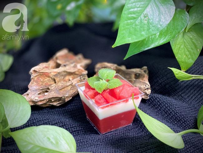 Thạch dưa hấu 2 lớp ngon đẹp bất ngờ cho mùa hè bớt nóng 8