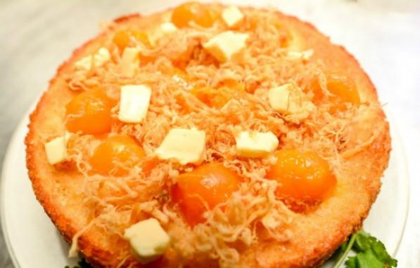 Cách làm bánh bông lan trứng muối sốt phô mai tan chảy ngon béo